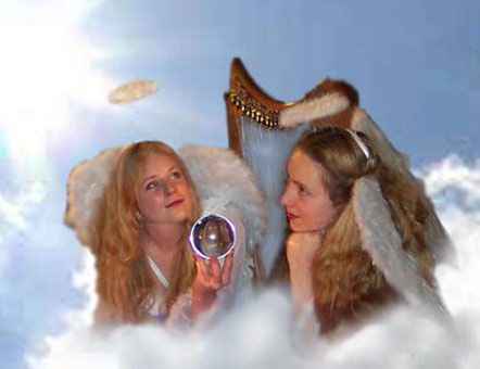 Crystal Music Box Angels